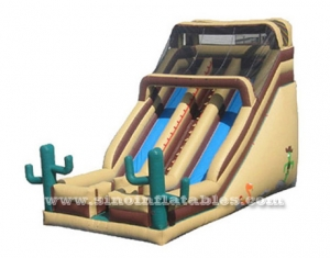 tropical desert giant inflatable slide