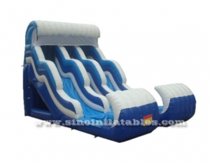 Large dual lane wave inflatable water slide