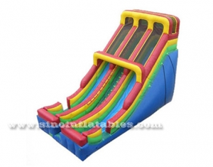 double lane front load inflatable slide