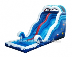 big sea world blow up inflatable water slide