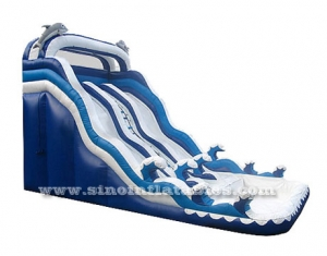 kids inflatable dolphin water slide