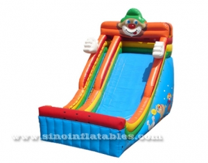 kids giant inflatable clown slide