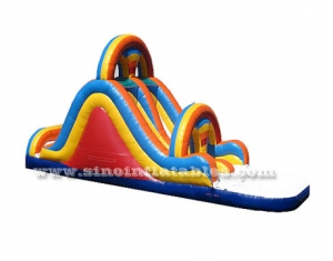blow up inflatable water slide with pool