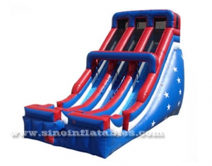 high commercial giant patriotic inflatable slide