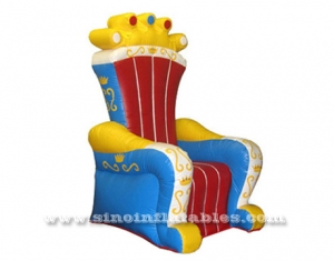 kids royal king inflatable throne chair