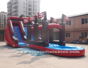 kids pirate ship inflatable water slide