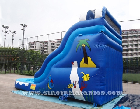 17' high ocean wavy commercial inflatable water slide with