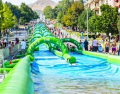 giant inflatable slide the city slip