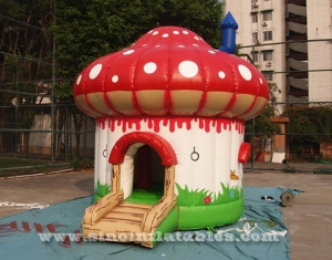 small mushroom toddler inflatable bouncer