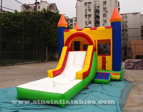 commercial kids inflatable water jumping castle with pool