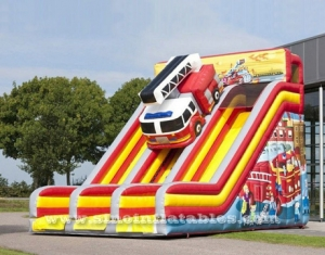 double lane cars inflatable slide