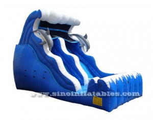 kids dolphin inflatable slide
