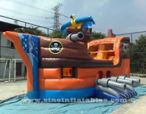 kids party inflatable pirate ship