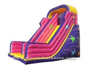 multicolored meteor kids inflatable slide