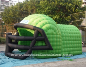 big inflatable football helmet tunnel