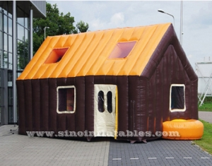 Outdoor tent type inflatable house