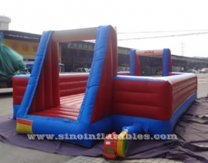 big kids inflatable soap soccer field