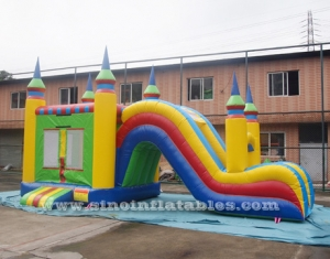 5in1 inflatable combo bounce house with slide