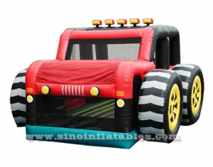Big wheel SUV inflatable car bouncy castle