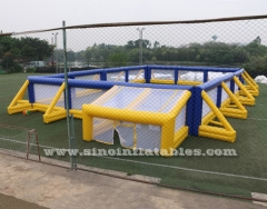 giant inflatable paintball bunker field