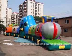 children inflatable train tunnel