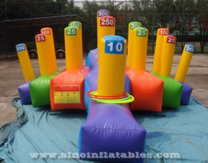 interactive inflatable ring toss game