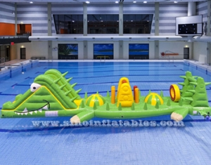 crocodile inflatable water obstacle course