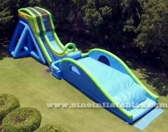 giant drop kick inflatable water slide