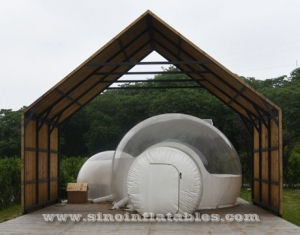 clear top inflatable camping bubble tent