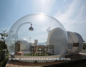 clear top resort inflatable bubble camping tent