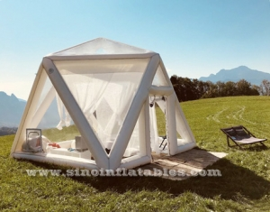 clear pvc inflatable camping tent