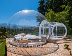 outdoor transparent inflatable bubble camping tent