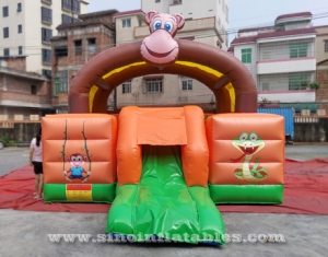 jungle monkey inflatable bouncy castle