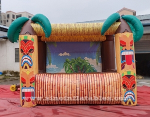 Portable inflatable Tiki hut bar
