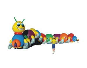 kids colorful inflatable caterpillar tunnel