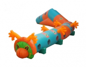 long worm inflatable kids play tunnel