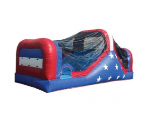 kids patriotic inflatable tunnel bouncy castle with slide