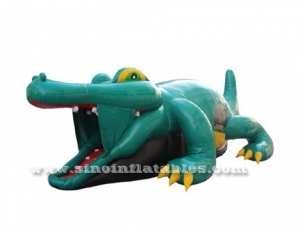 kids giant inflatable crocodile bouncy castle