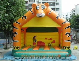 commercial grade kids tiger inflatable bouncy castle