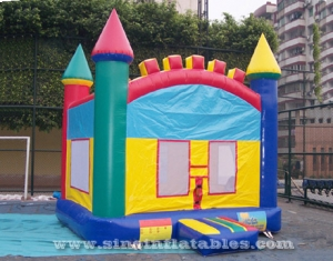 inflatable rainbow bounce house