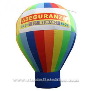 outside advertising inflatable rainbow balloon