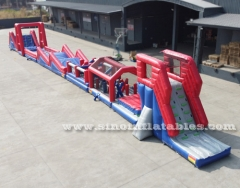adults inflatable obstacle course with freestyle airbag