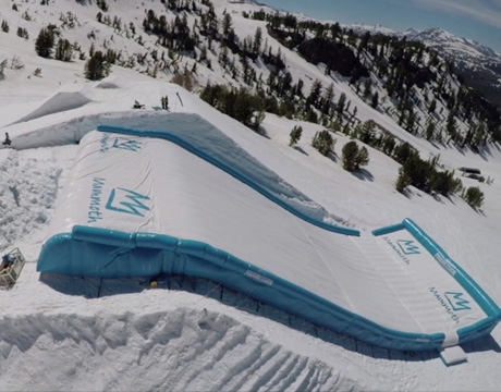 giant inflatable snowboard landing airbag