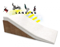 giant BMX bike airbag landing ramp