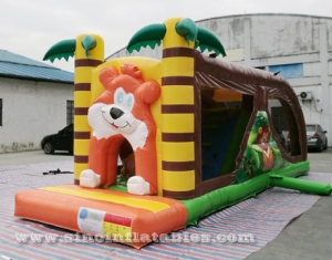 kids inflatable jungle bouncy castle