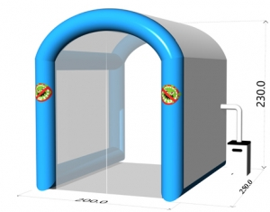 portable inflatable disinfection tunnel tent