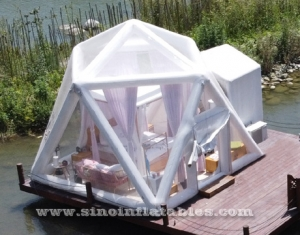 clear top lodge glamping inflatable camping tent