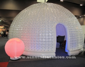 airtight hemisphere inflatable bubble tent