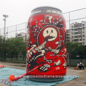 5 mts high outdoor giant inflatable beer can