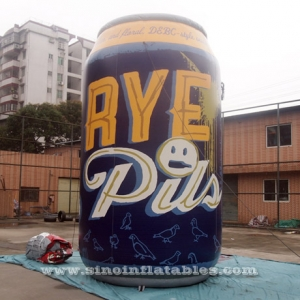 RYE lager giant inflatable beer can